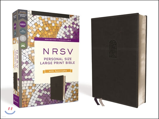 Nrsv, Personal Size Large Print Bible with Apocrypha, Leathersoft, Black, Comfort Print
