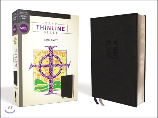 Nrsv, Thinline Bible, Compact, Leathersoft, Black, Comfort Print