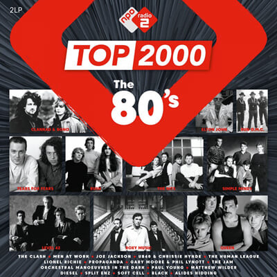 NPO 라디오 컴필레이션: 1980년대 히트곡 모음집 (Top 2000 - The 80's) [핑크 컬러 2LP]