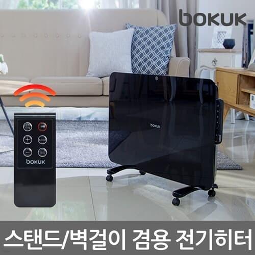 보국 에코글라스 컨벡션 히터 BKH-1463VG 전기난로 온풍기 난방기 욕실난방기 스탠드 벽걸이 욕실난방기