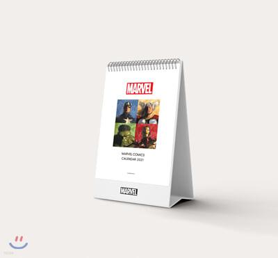 마블 코믹스 탁상 달력 2021