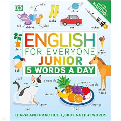 English for Everyone Junior: 5 Words a Day