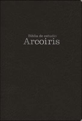 Mass Market Rvr 1960 Biblia de Estudio Arco Iris, Negro Simil Piel