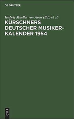 Kurschners Deutscher Musiker-Kalender 1954