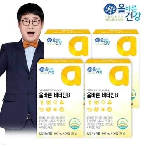 [올바른 건강] 올바른 비타민B 30정*4박스