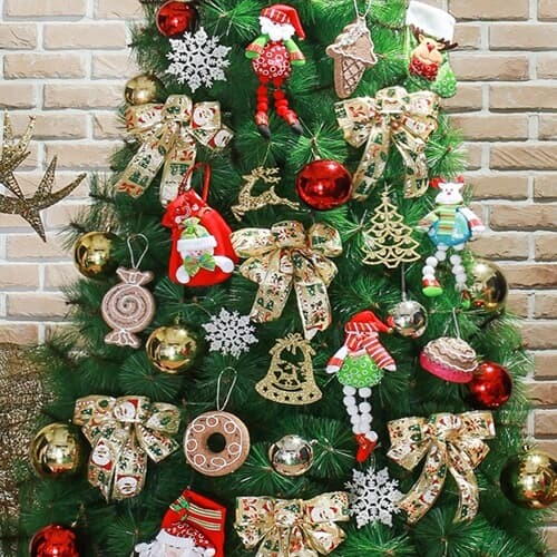 산타선물 크리스마스 트리장식세트(210cm트리용)