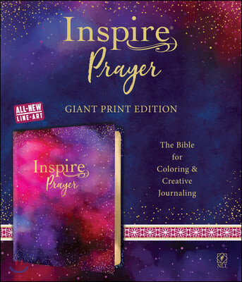 Inspire Prayer Bible Giant Print NLT (Leatherlike, Purple): The Bible for Coloring & Creative Journaling