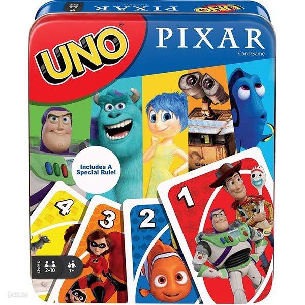 Uno Pixar 우노 픽사 틴케이스 카드게임