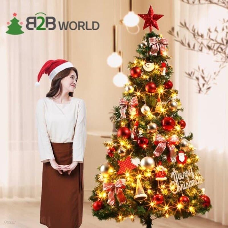 180cm 크리스마스 트리 풀세트 가정용 카페 트리세트