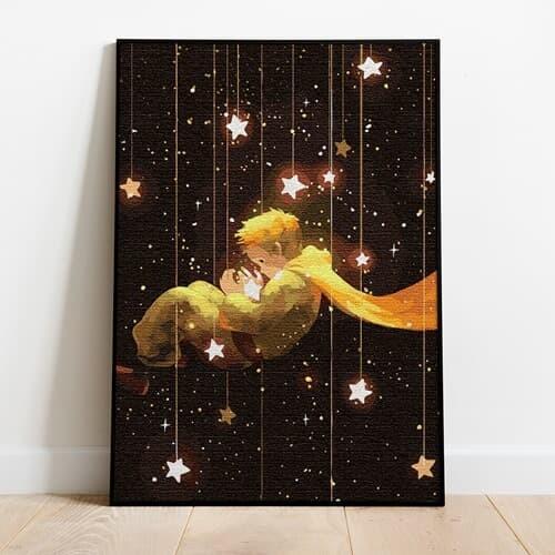 명화그리기 어린왕자의 꿈 캔버스페인팅 유화그림