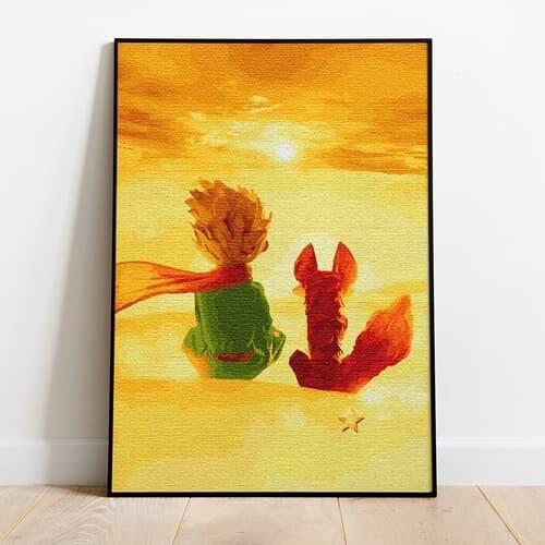 명화그리기 어린왕자와 사막여우 피포페인팅 유화그림