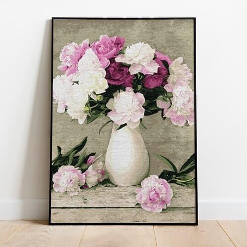 명화그리기 꽃과 꽃병 피포페인팅 유화그림 DIY