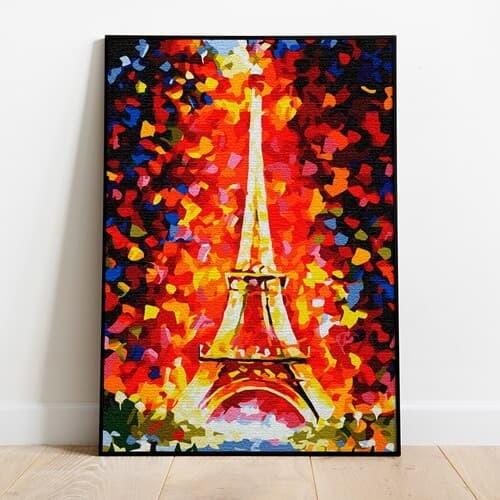 명화그리기 화려한 에펠탑 피포페인팅 유화그림 DIY