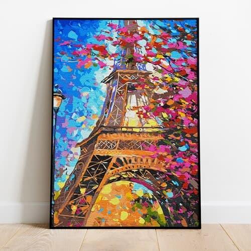 명화그리기 단풍과 에펠탑 피포페인팅 유화그림 DIY