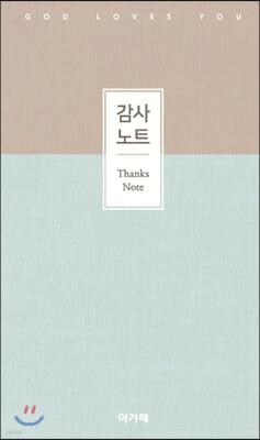 아가페 감사노트 (중/민트)