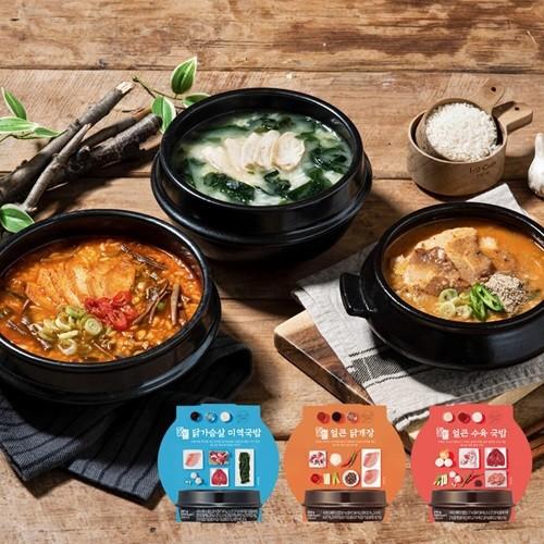 [밀스원] 간편 국밥 도시락 3종 3팩