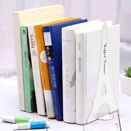 에펠탑 북엔드 2p세트(화이트) L자형 책고정 책꽂이