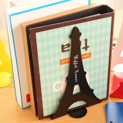 에펠탑 북엔드 2p세트(블랙) L자형 책고정 책꽂이