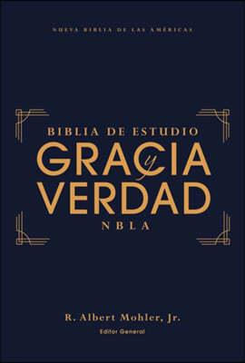 Nbla Biblia de Estudio Gracia Y Verdad, Tapa Dura, Interior a DOS Colores