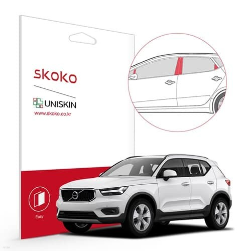 스코코 볼보 XC40 2021 유니스킨 도어필러세트 PPF 보호필름