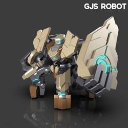 GJS ROBOT 인공지능 휴머노이드 모션싱크 로봇 갠커엑스쉴드 배틀로봇 GANKER EX 프라모델 G00501