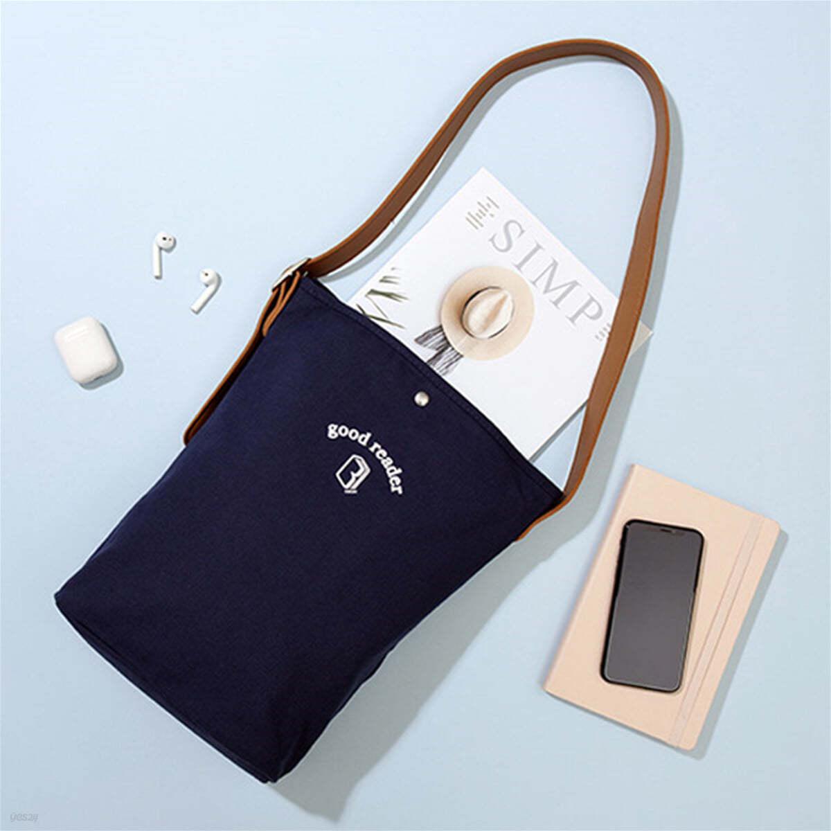 [예스베리굿즈] 굿리더를 위한 캔버스 BASIC BAG - 네이비