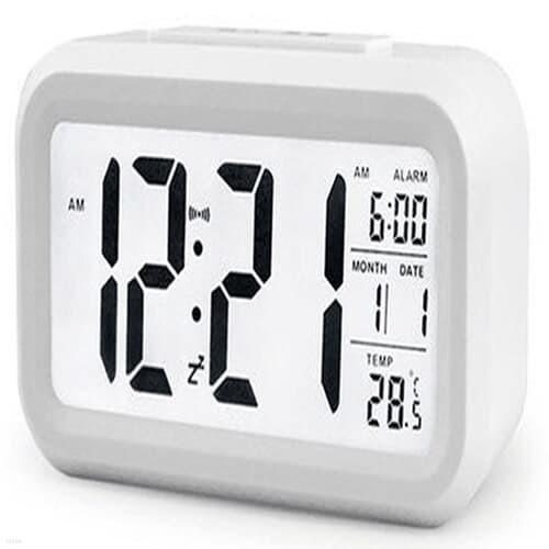 달력 알람 온도계 올인원 디지털 탁상 시계