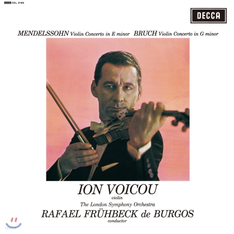 Ion Voicou 멘델스존 / 브루흐: 바이올린 협주곡 (Mendelssohn: Violin Concerto Op.64 / Bruch: Violin Concerto Op.26) [LP]