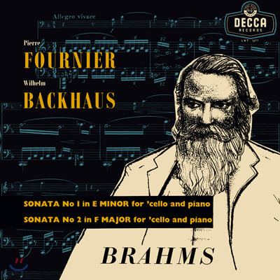 Pierre Fournier / Wilhelm Backhaus 브람스: 첼로와 피아노를 위한 소나타 (Brahms: Sonatas for Cello and Piano Op.38, Op.99) [LP]