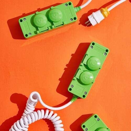 유니크 디자인 고용량 국산 가전 멀티탭 디자인 에어컨 건조기 2구 4000W 대용량 안전 멀티콘센트