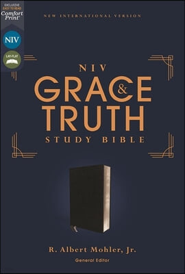 Niv, the Grace and Truth Study Bible, European Bonded Leather, Black, Red Letter, Thumb Indexed, Comfort Print