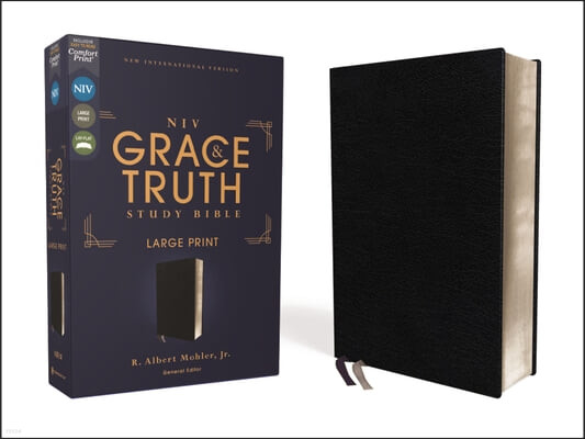 Niv, the Grace and Truth Study Bible, Large Print, European Bonded Leather, Black, Red Letter, Comfort Print