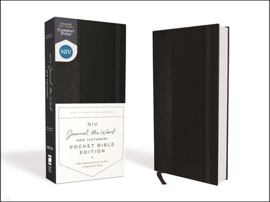 Niv, Journal the Word New Testament, Pocket Bible Edition, Hardcover, Black, Red Letter, Comfort Print