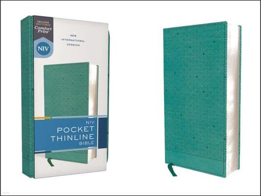 Niv, Pocket Thinline Bible, Leathersoft, Teal, Red Letter, Comfort Print