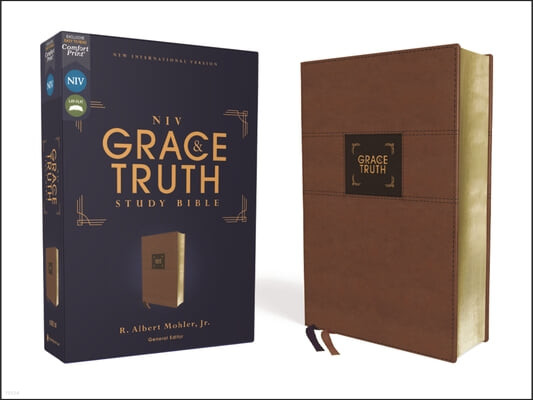 Niv, the Grace and Truth Study Bible, Leathersoft, Brown, Red Letter, Comfort Print