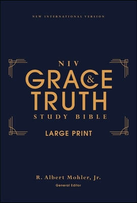 Niv, the Grace and Truth Study Bible, Large Print, Hardcover, Red Letter, Comfort Print