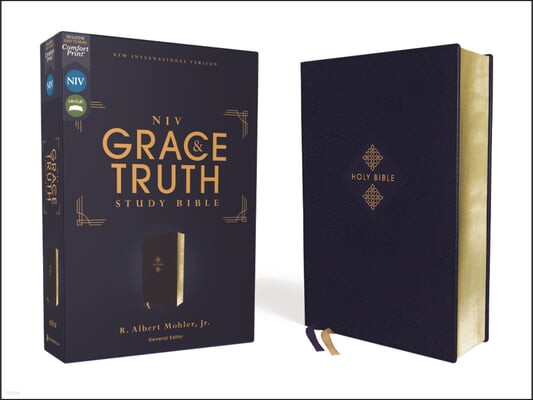 Niv, the Grace and Truth Study Bible, Leathersoft, Navy, Red Letter, Comfort Print