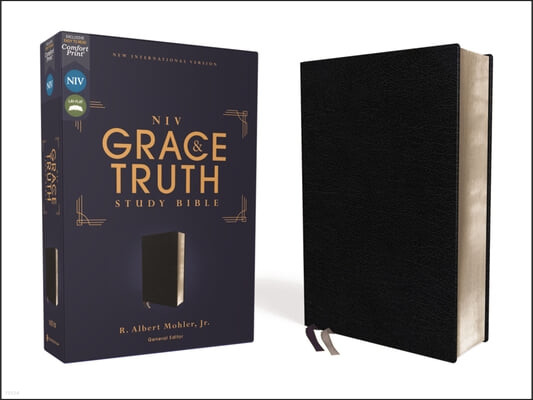 Niv, the Grace and Truth Study Bible, European Bonded Leather, Black, Red Letter, Comfort Print