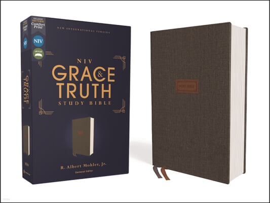 Niv, the Grace and Truth Study Bible, Cloth Over Board, Gray, Red Letter, Comfort Print