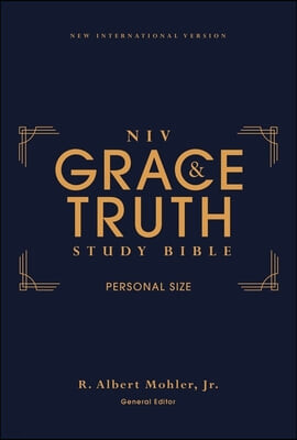 Niv, the Grace and Truth Study Bible, Personal Size, Hardcover, Red Letter, Comfort Print