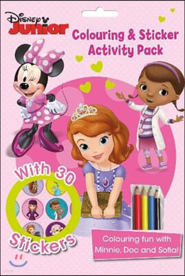 Disney Junior Colouring and Sticker Activity Pack