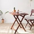 [벤트리] 원목 브라우니 접이식 카페 테이블 2type (2sizes)