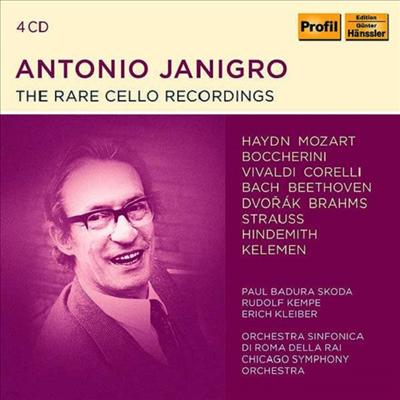 안토니오 야니그로 - 첼로 협주곡 녹음집 (Antonio Janigro - The Rare Cello Recordings) (4CD) - Antonio Janigro,