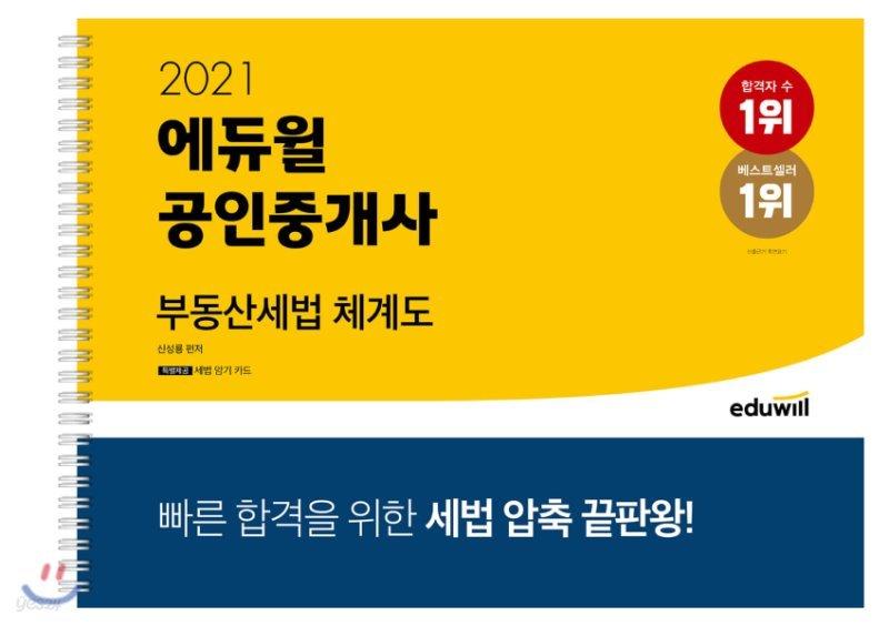 2021 에듀윌 공인중개사 부동산세법 체계도