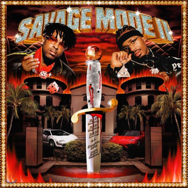 21 Savage / Metro Boomin (21 새비지 / 메트로 부민) - Savage Mode II [투명 레드 컬러 LP]