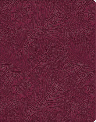 ESV Single Column Journaling Bible (Trutone, Raspberry, Floral Design)