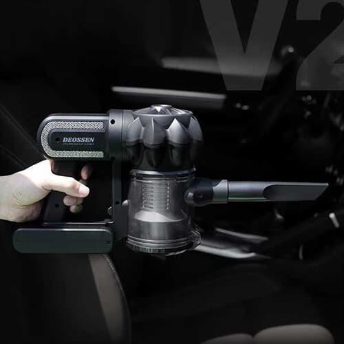 [특가]자동차 싸이클론 무선 핸디형 청소기 더쎈 V2