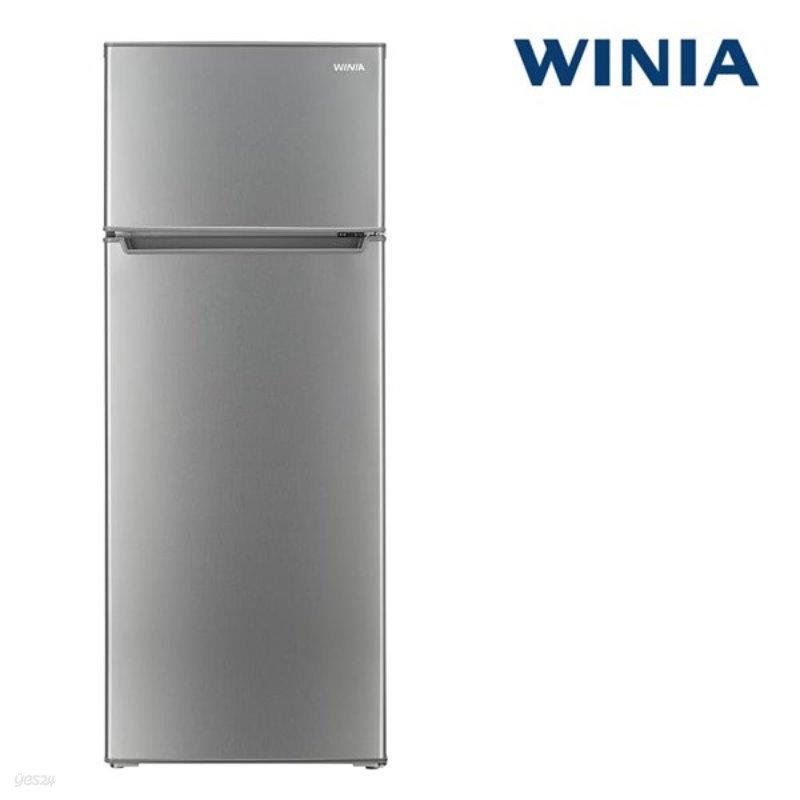 인증 위니아 중형냉장고 ERT212BS 208L 메탈실버