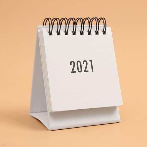2021년 미니 탁상 캘린더 2p(화이트) 스티커 달력