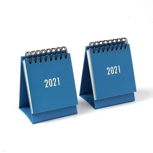 2021년 미니 탁상 캘린더 2p(블루) 스프링 월간달력